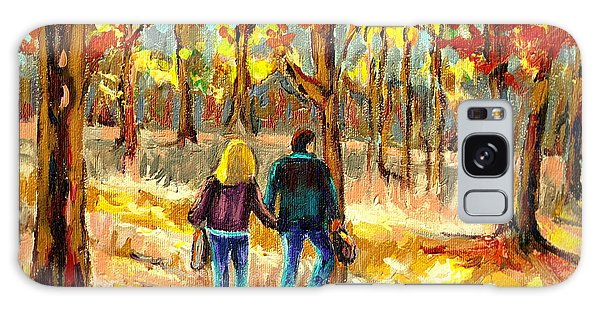 Autumn  Stroll On Mount Royal Galaxy Case