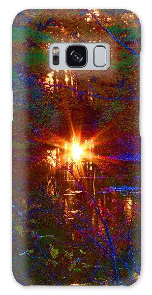 Autumn Sunburst Reflections Galaxy Case