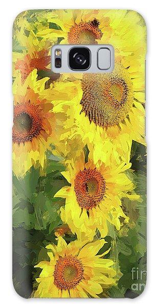 Autumn Sunflowers Galaxy Case by Tina LeCour