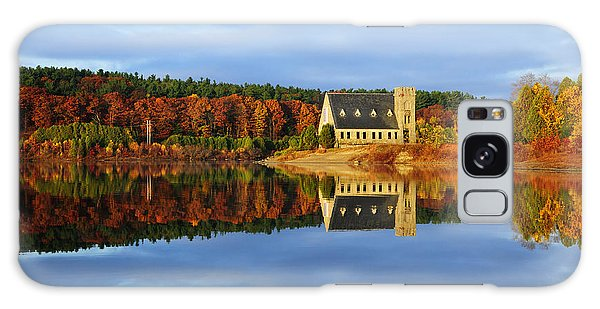 Autumn Sunrise At Wachusett Reservoir Galaxy Case