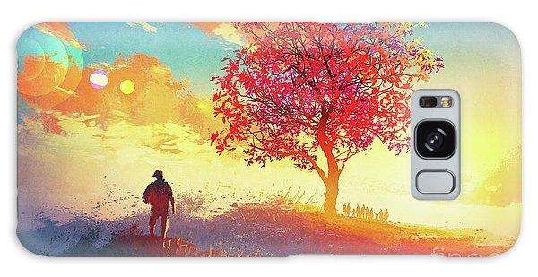 Autumn Sunrise Galaxy Case