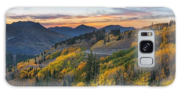 Autumn Sunset At Guardsman Pass, Utah Galaxy Case