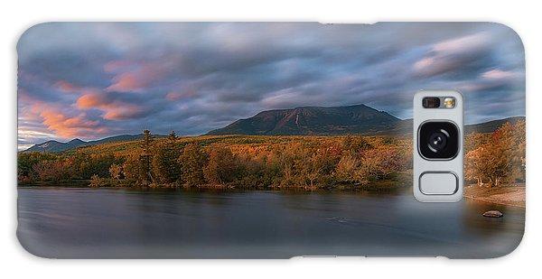 Autumn Sunset At Mount Katahdin Galaxy Case
