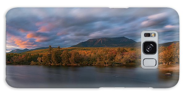 Autumn Sunset At Mount Katahdin Galaxy Case