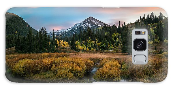 Autumn Sunset In Big Cottonwood Canyon Galaxy Case