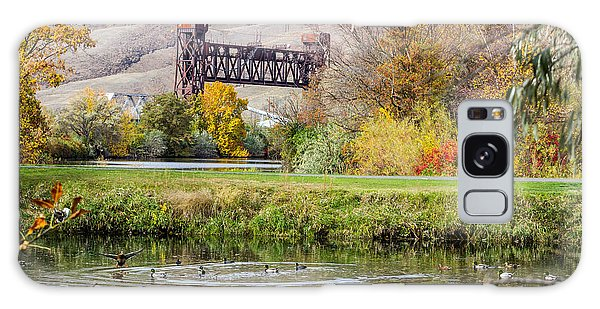Autumn Train Bridge Galaxy Case
