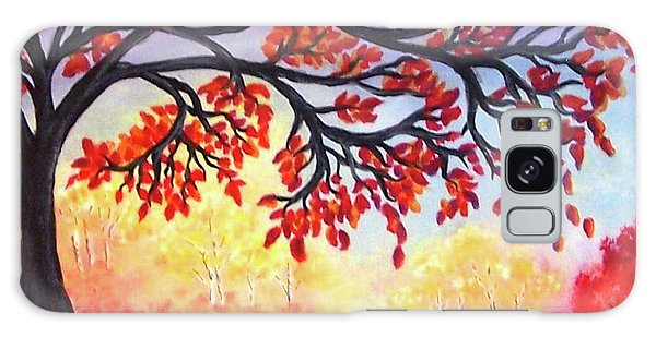 Galaxy Case featuring the painting Autumn Tree by Sonya Nancy Capling-Bacle