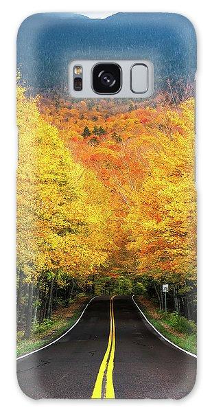 Autumn Tree Tunnel Galaxy Case