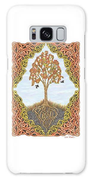 Autumn Tree With Knotted Roots And Knotted Border Galaxy Case