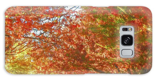 Autumn Trees Digital Watercolor Galaxy Case