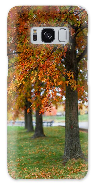 Autumn Trees In A Row Galaxy Case