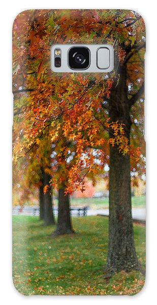 Autumn Trees In A Row Galaxy Case by April Reppucci