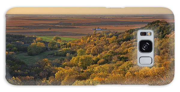 Autumn View At Waubonsie State Park Galaxy Case by Edward Peterson
