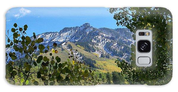 Autumn View Through Aspen Leaves Galaxy Case
