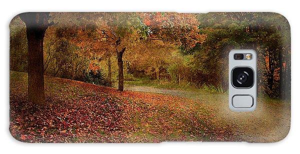 Autumn Walk Galaxy Case by Elaine Manley