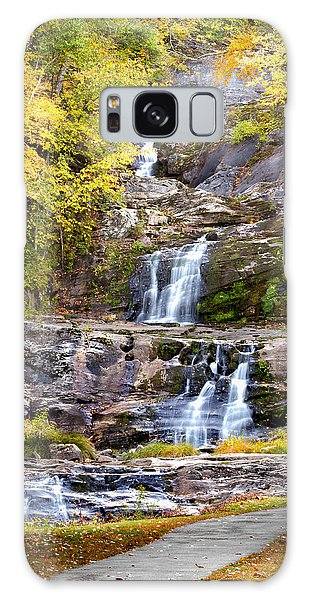 Autumn Waterfall Galaxy Case by Brian Caldwell