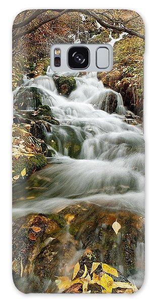 Autumn Waterfall Galaxy Case