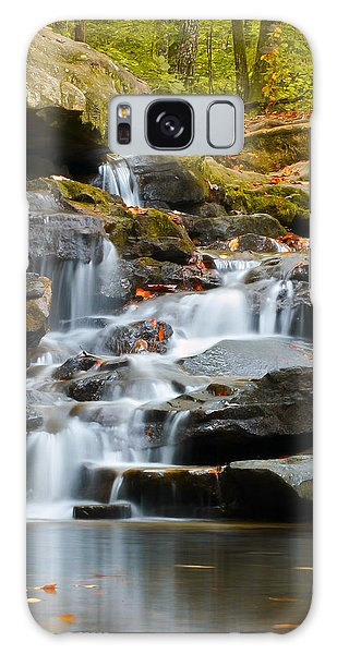 Autumn Waterfall Galaxy Case by Shelby  Young