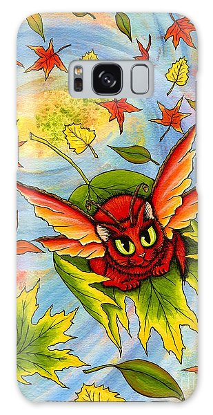 Autumn Winds Fairy Cat Galaxy Case by Carrie Hawks
