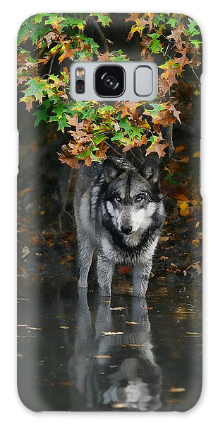 Autumn Wolf Galaxy Case by Shari Jardina