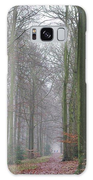 Autumn Woodland Avenue Galaxy Case