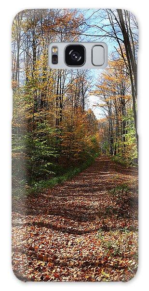 Autumn Woods Road Galaxy Case