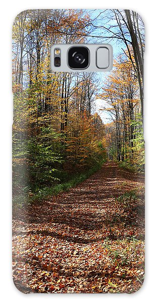 Autumn Woods Road Galaxy Case