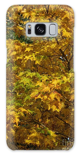 Autumnal Leaves And Trees 2 Galaxy Case