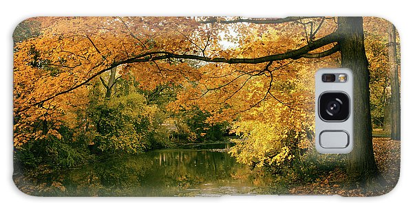 Galaxy Case featuring the photograph Autumn's Golden Tones by Jessica Jenney
