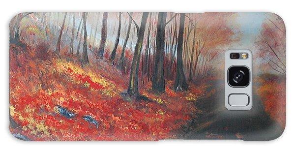 Autumns Pathway Galaxy Case by Leslie Allen