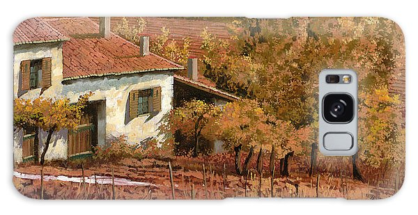Rural Scenes Galaxy S8 Case - Autunno Rosso by Guido Borelli