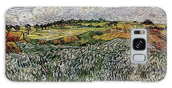 Landscape Auvers28 Galaxy Case by Pemaro