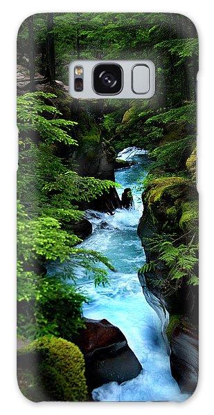 Avalanche Creek Waterfalls Galaxy Case