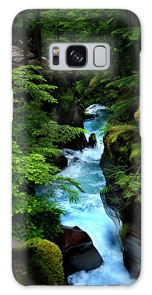 Avalanche Creek Waterfalls Galaxy Case