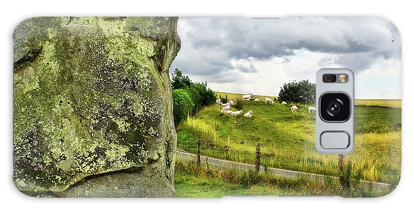Avebury Standing Stone And Sheep Galaxy Case