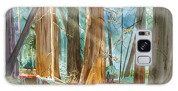 Avenue Of The Giants Galaxy Case by John Norman Stewart
