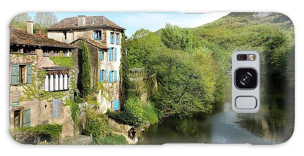 Aveyron River In Saint-antonin-noble-val Galaxy Case by RicardMN Photography