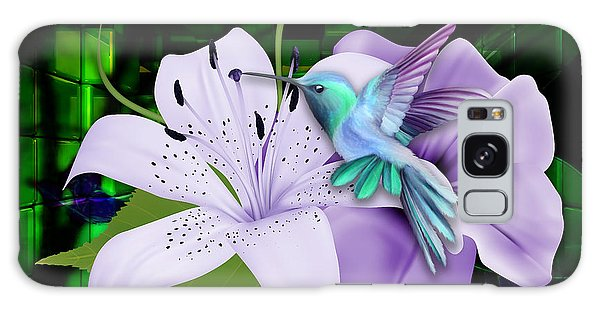 Galaxy Case featuring the mixed media Aviation Hummingbird by Marvin Blaine