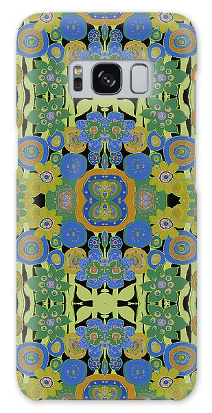 Avocado Blue Pattern Galaxy Case by Lisa Weedn