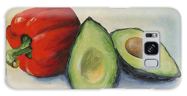 Avocado With Bell Pepper Galaxy Case