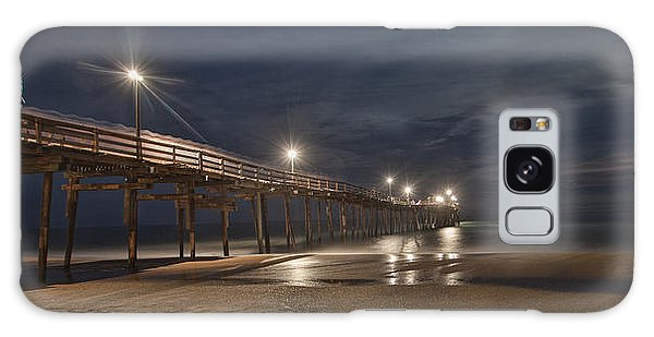 Avon Pier At Night Galaxy Case by Laurinda Bowling
