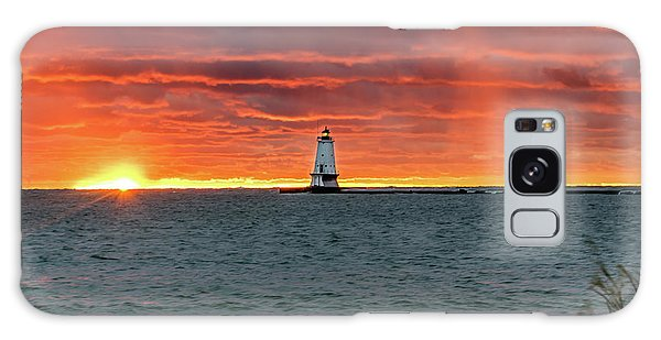 Awesome Sunset With Lighthouse  Galaxy Case
