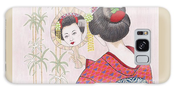 Ayano -- Portrait Of Japanese Geisha Girl Galaxy Case