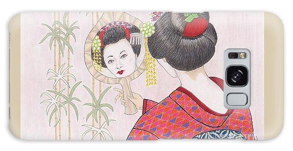 Ayano -- Portrait Of Japanese Geisha Girl Galaxy Case