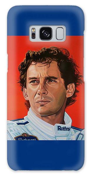 Ayrton Senna Portrait Painting Galaxy Case by Paul Meijering