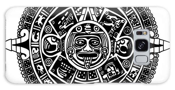 Aztecs Calendar Galaxy Case