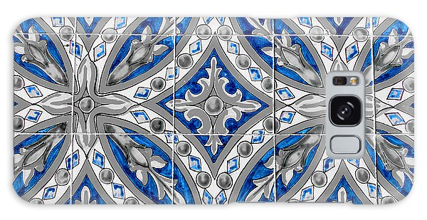 Azulejo - Blue Floral Decoration  Galaxy Case