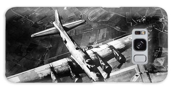 United States Galaxy Case - B-17 Bomber Over Germany  by War Is Hell Store