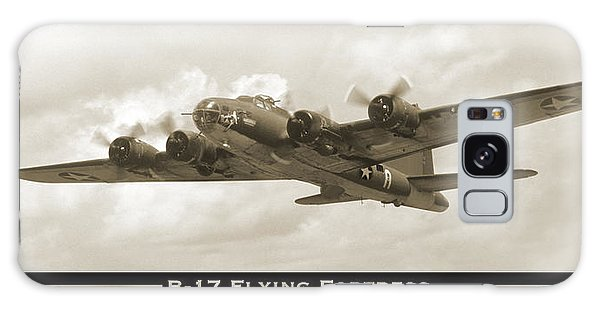 B-17 Flying Fortress Show Print Galaxy Case by Mike McGlothlen