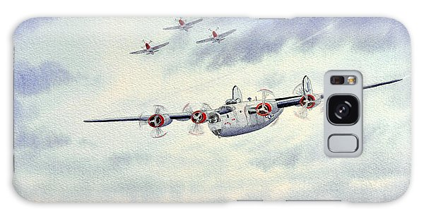 B-24 Liberator Aircraft Painting Galaxy Case by Bill Holkham